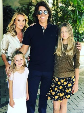 Amanda Holden with husband Chris and her daughters