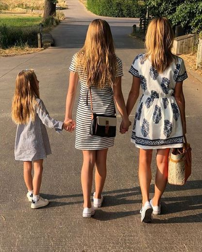 Amanda Holden and her daughters