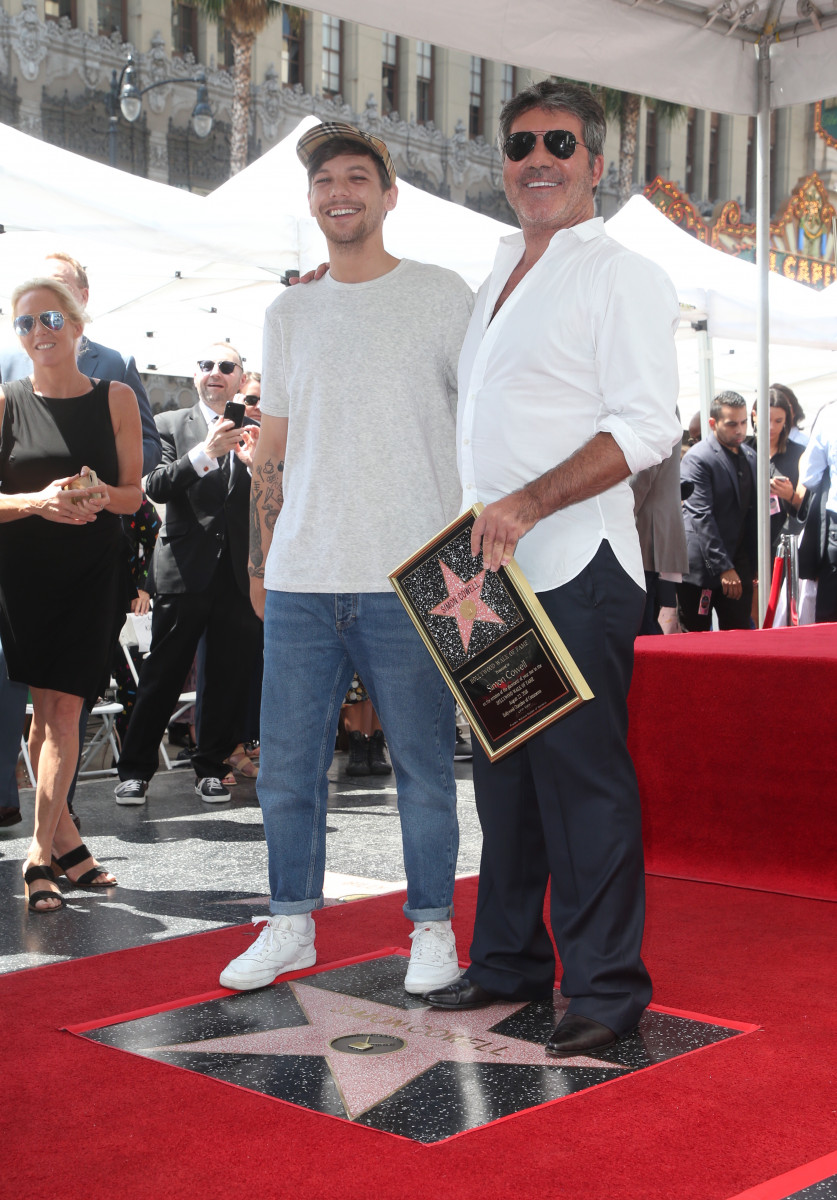 Simon Cowell is honoured with a star on the Hollywood Walk of Fame in Los Angeles, United States