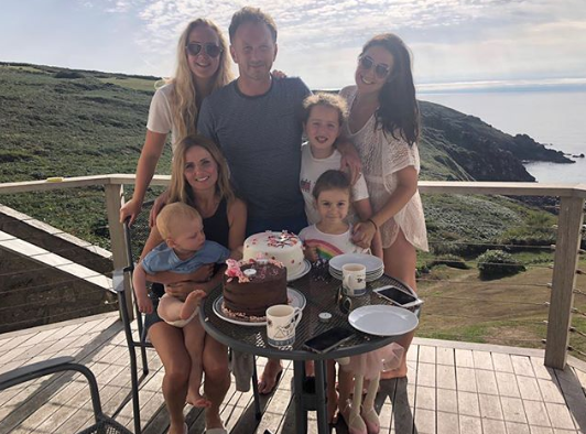 Geri Horner and her family