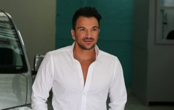 Peter Andre leaving ITV This Morning TV Studios after appearing on the show - London