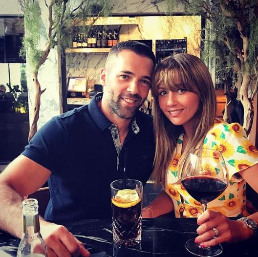 Samia Longchambon and husband Sylvain