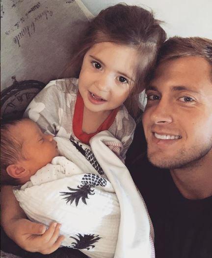 Dan Osborne with daughters Ella and Mia