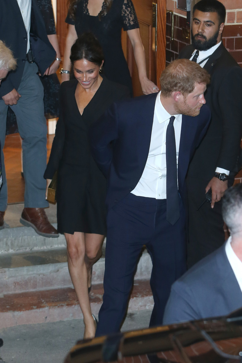 Duke and Duchess of Sussex attended a gala performance of Hamilton tonight in London.