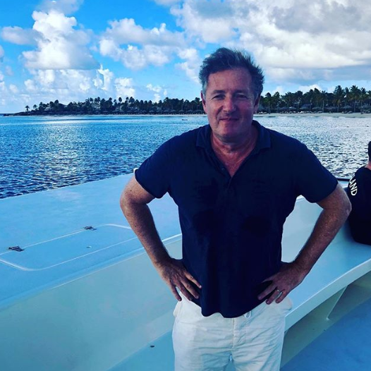 Piers Morgan on holiday in Antigua