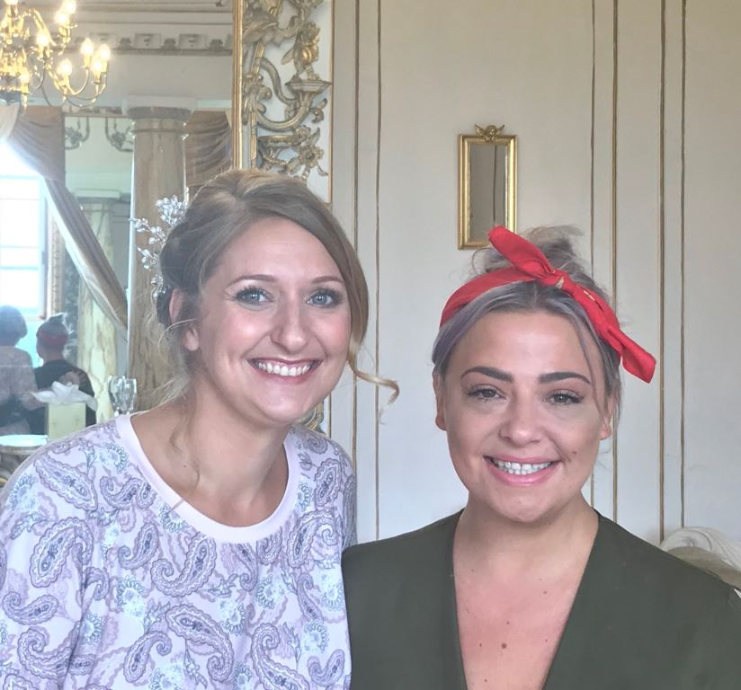 Lisa Armstrong and bride Bethany on her wedding day