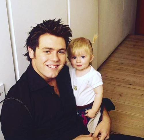 Brian McFadden and daughter Molly