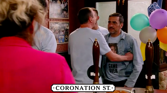 Coronation Street SPOILER: First look at Jim McDonald's return as Peter Barlow attacks him