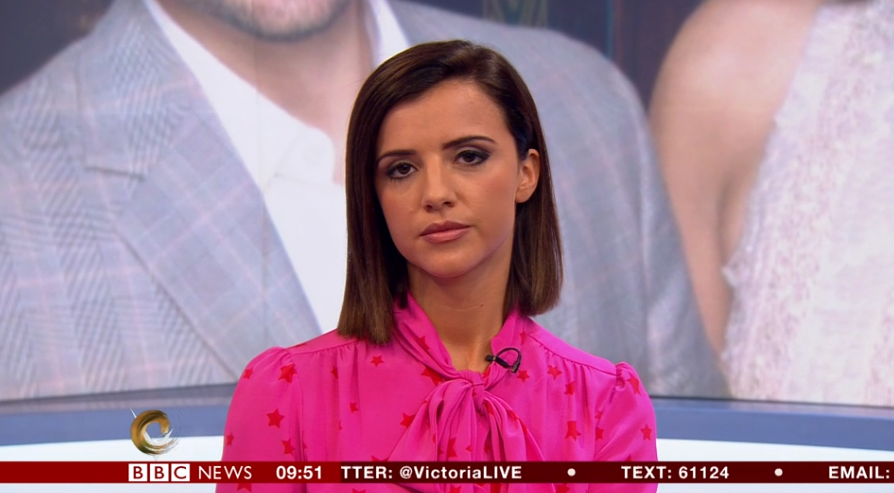Lucy Mecklenburgh speaking on The Victoria Derbyshire Show