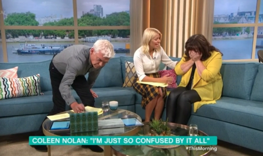 Coleen Nolan cries on This Morning