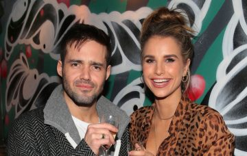 Vogue Williams pictured as she celebrated her engagement to Spencer Matthews with friends prior to taking to the decks at the opening of hip nightspot R.I.O.T in Aston Quay Dublin on Saturday Night