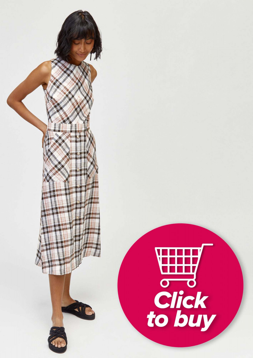 142f1b0033 Dress this long-sleeved plaid top - £29.99 from Zara - up with a skirt and  boots, or down with jeans and plimpsolls for a relaxed weekend vibe.