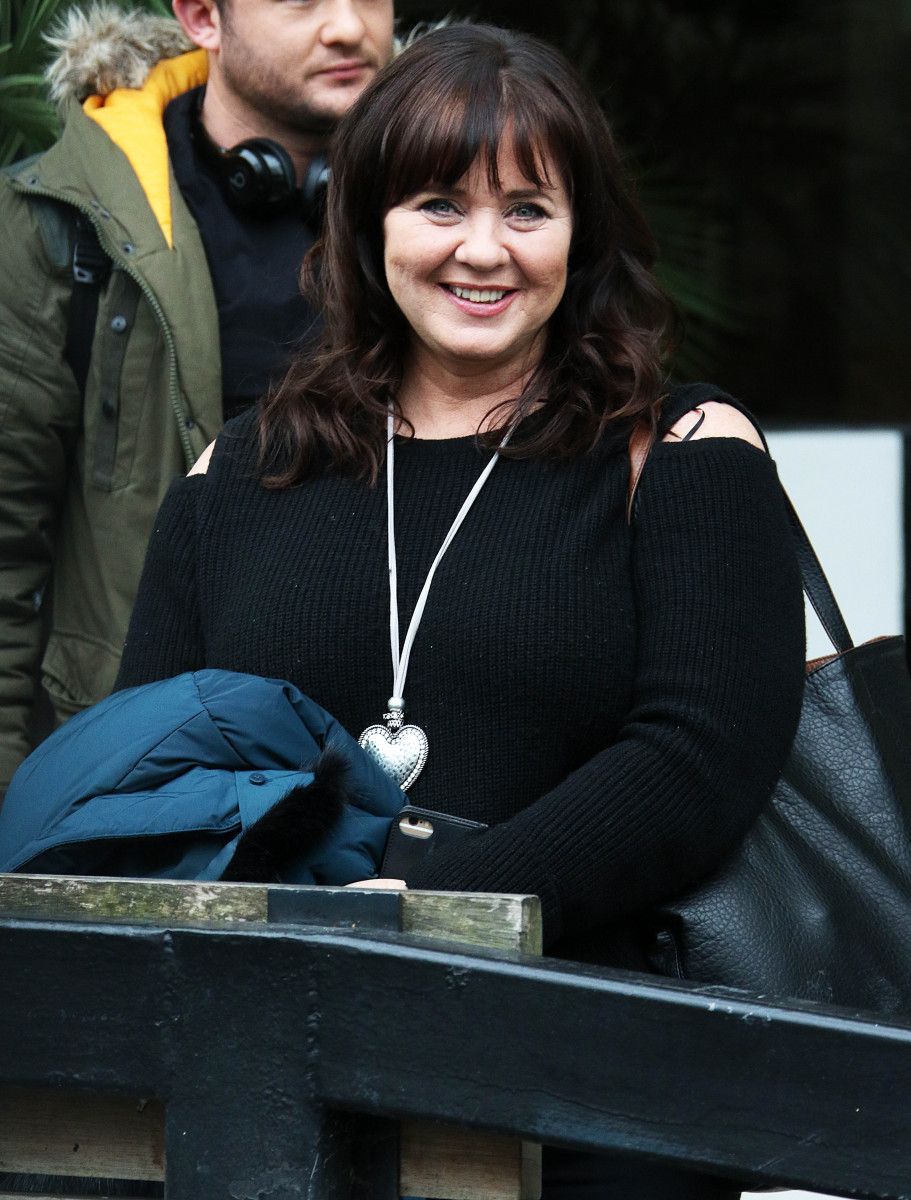 Coleen Nolan and Shane Richie Jr seen at ITV Studios in London