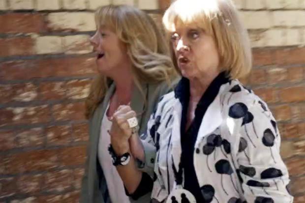 Sally Ann Matthews and Amanda Barrie are cousins