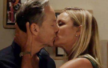 Mel and Ray kiss