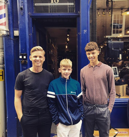Jeff Brazier with his sons Freddy and Bobby