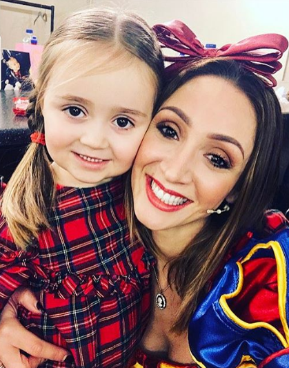 Lucy-Jo Hudson and her daughter Sienna-Rae