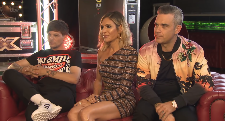 Robbie Williams, wife Ayda Field and Louis Tomlinson on Lorraine