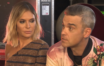 Robbie Williams and Ayda Field on Lorraine