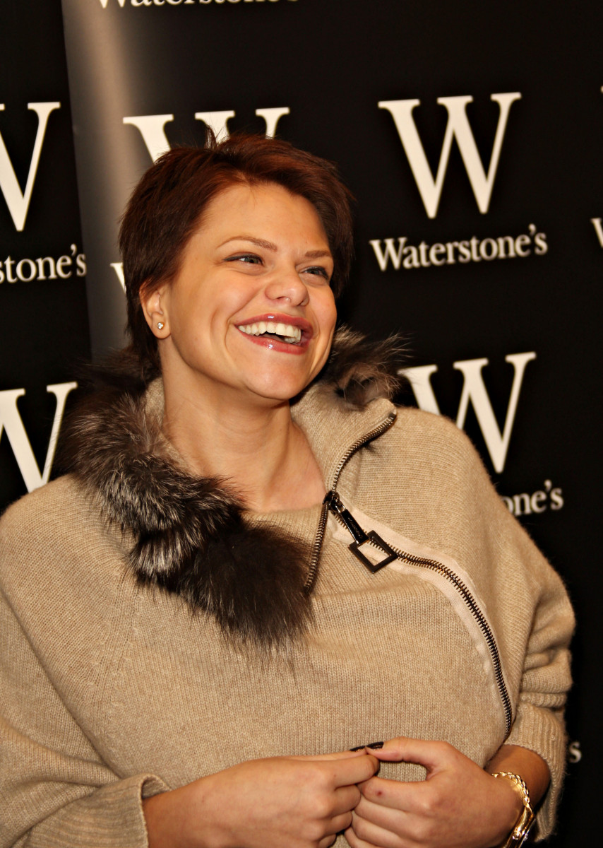 Jade Goody, Jade Goody is pictured at her book signing of 'Catch a Falling Star' which was held at Waterstones in Lakeside