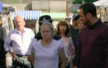Linda Carter arrested for shooting Stuart Highway in EastEnders