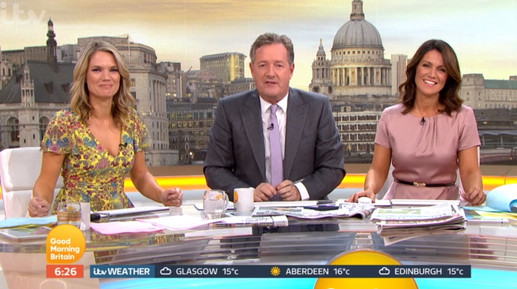 Charlotte, Piers and Susanan on GMB