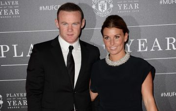 Wayne and Coleen Rooney arrive at Manchester United Football Club