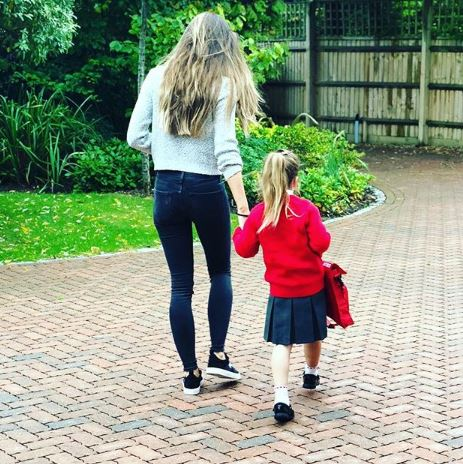 Peter Andre's daughter Amelia starts school with Emily