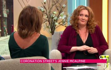 Jennie McAlpine, Lorraine, pregnant