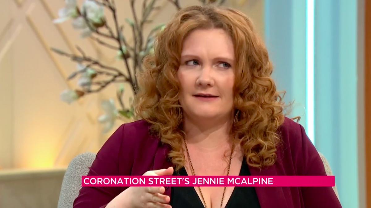 Jennie McAlpine appears on Lorraine