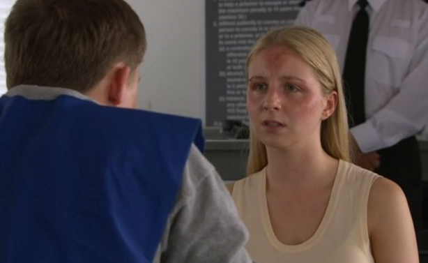 Belle Dingle visits Lachlan in jail