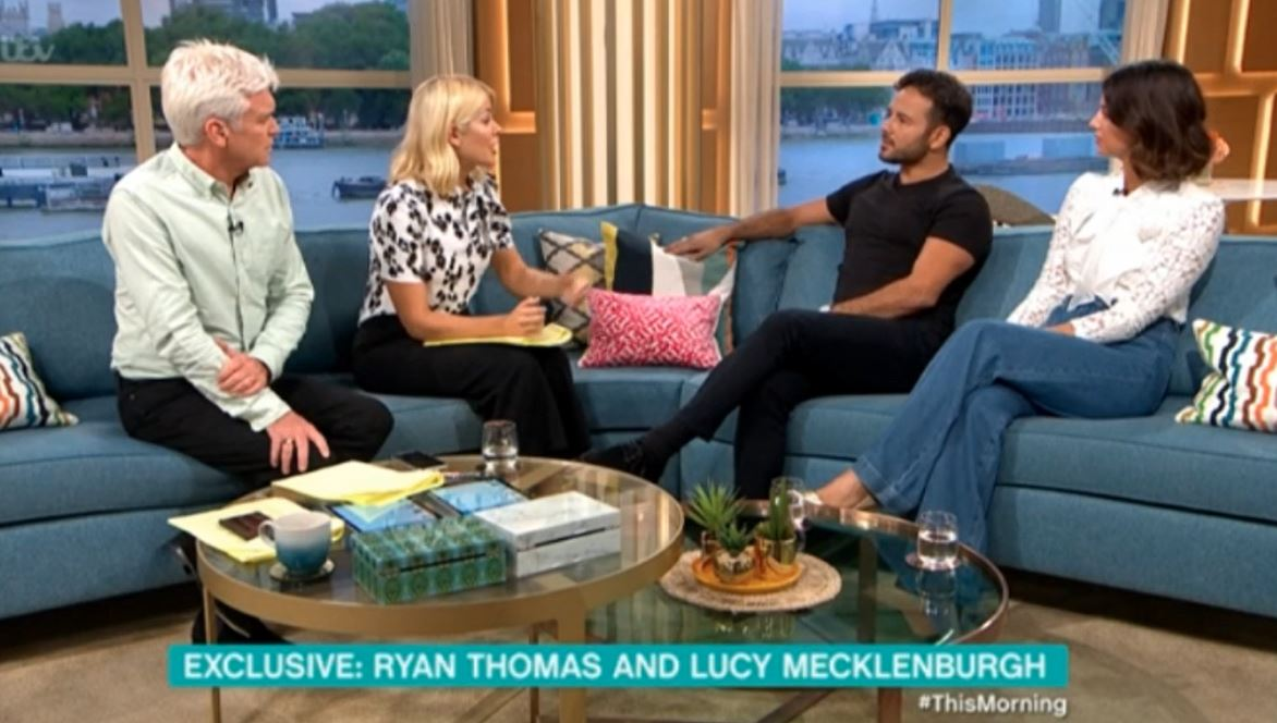 Ryan Thomas and Lucy Mecklenburgh on This Morning