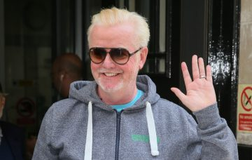 Chris Evans seen leaving BBC Radio 2 studios after he quit the BBC for Virgin Radio - London