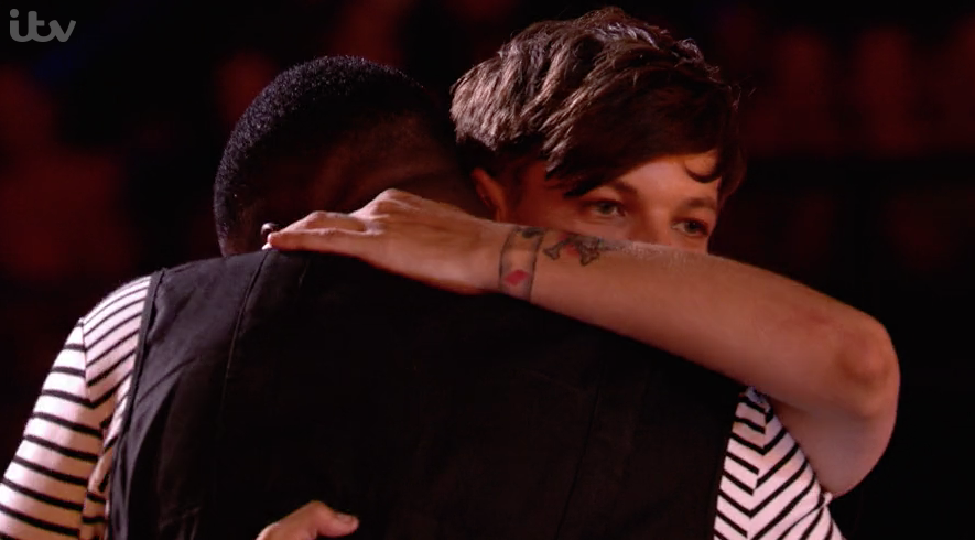 Louis Tomlinson in tears as X Factor hopeful reminds him of late mum