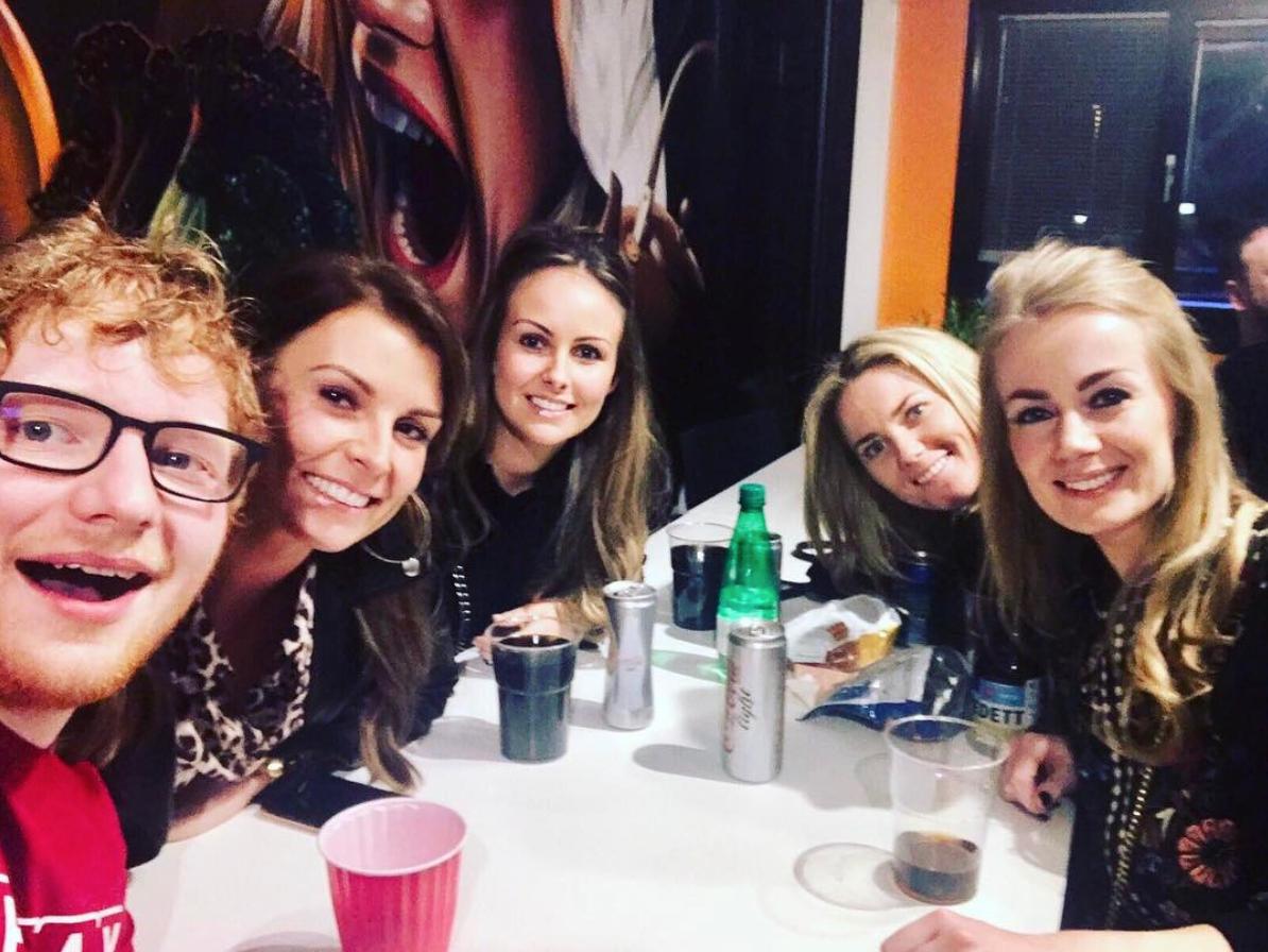 Coleen Rooney Wayne Rooney Ed Sheeran Instagram