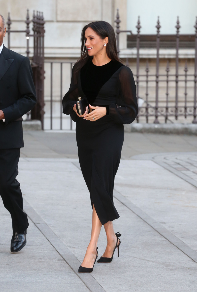 Meghan Markle, Duchess of Sussex attends the Royal Academy of Arts to view Oceania