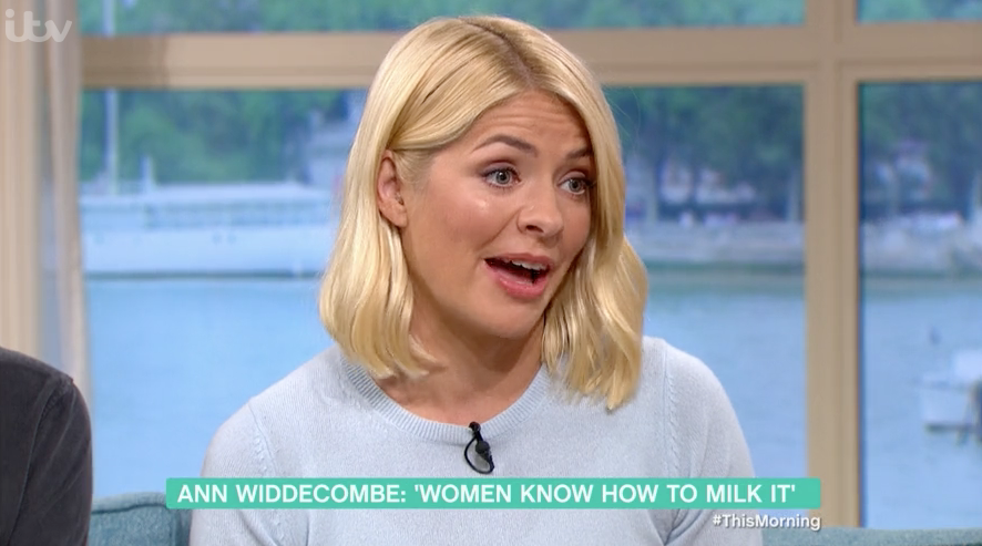 Holly Willoughby stunned as Ann Widdecombe blasts her for interrupting
