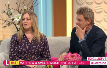 Matthew Wright and his wife on Lorraine