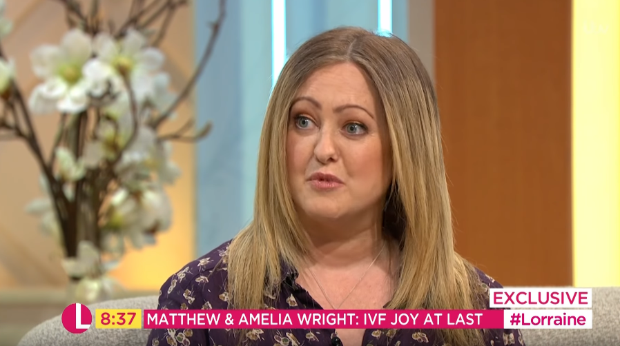 Matthew Wright's wife on Lorraine