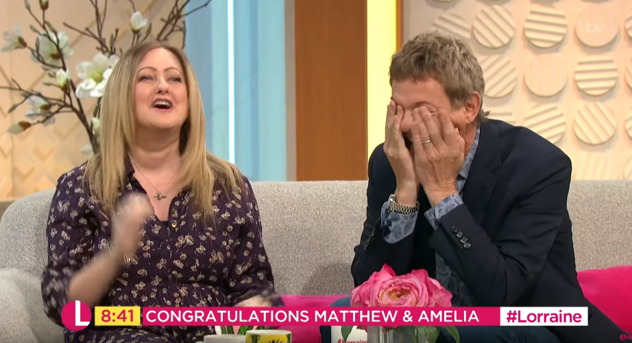 Matthew Wright and wife Amelia on Lorraine