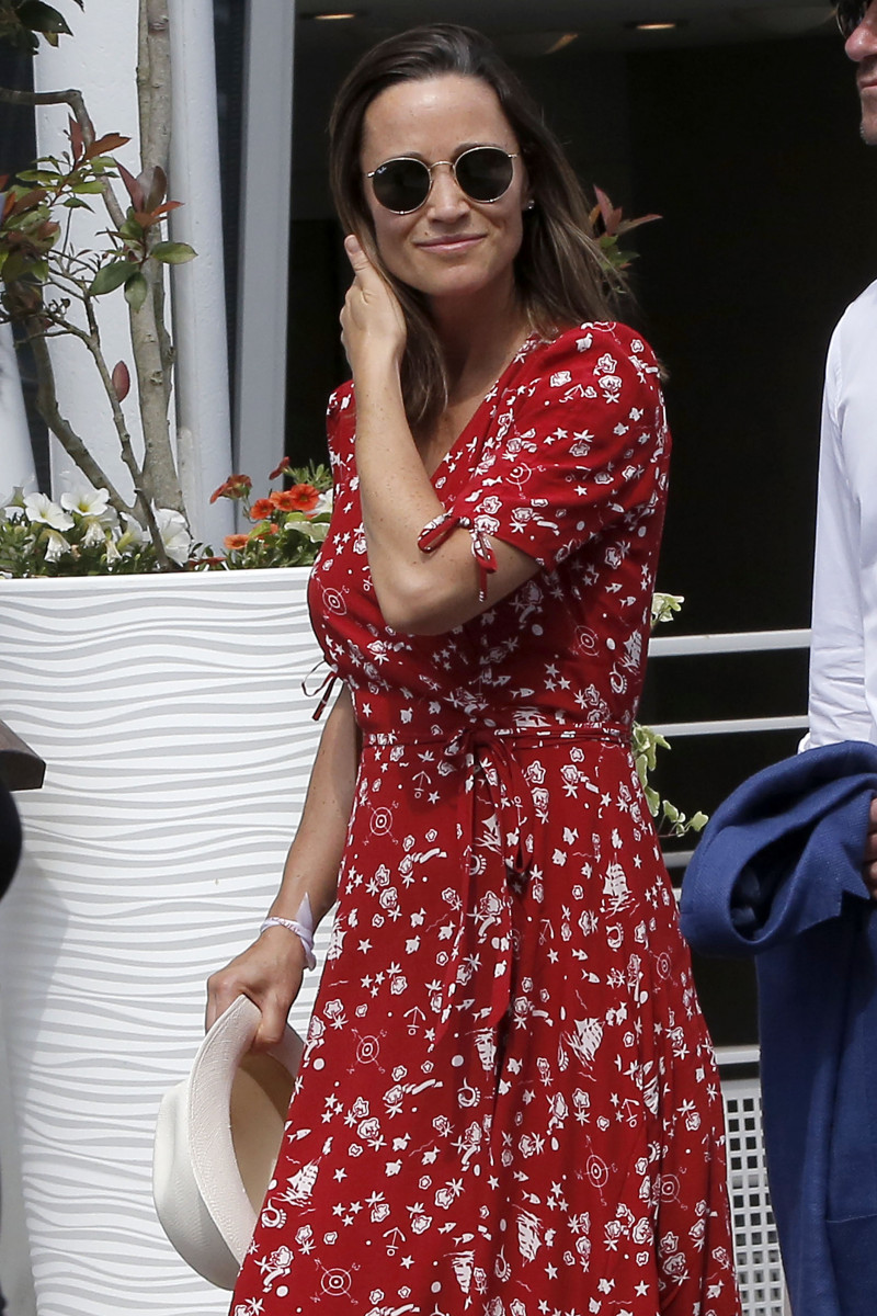 Celebrities attending Day One of the 2018 French Open at Garros Stadium