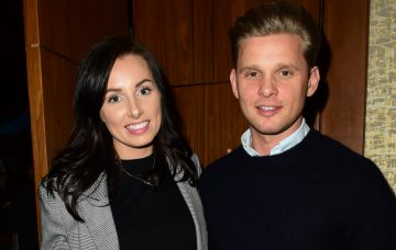 Jeff Brazier and Kate Dwyer at the British TV presenter Anna Williamson's book launch 'Breaking Mum and Dad and The Insiders Guide To Parenting' at the Devonshire Club London EC2