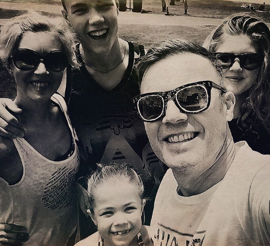 Gary Barlow and his wife and kids