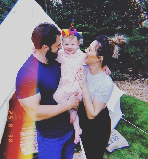 Kelvin Fletcher, fiance and daughter