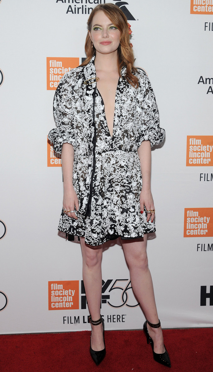 Emma Stone, The Favourite Premiere During The 56th New York Film Festival In New York