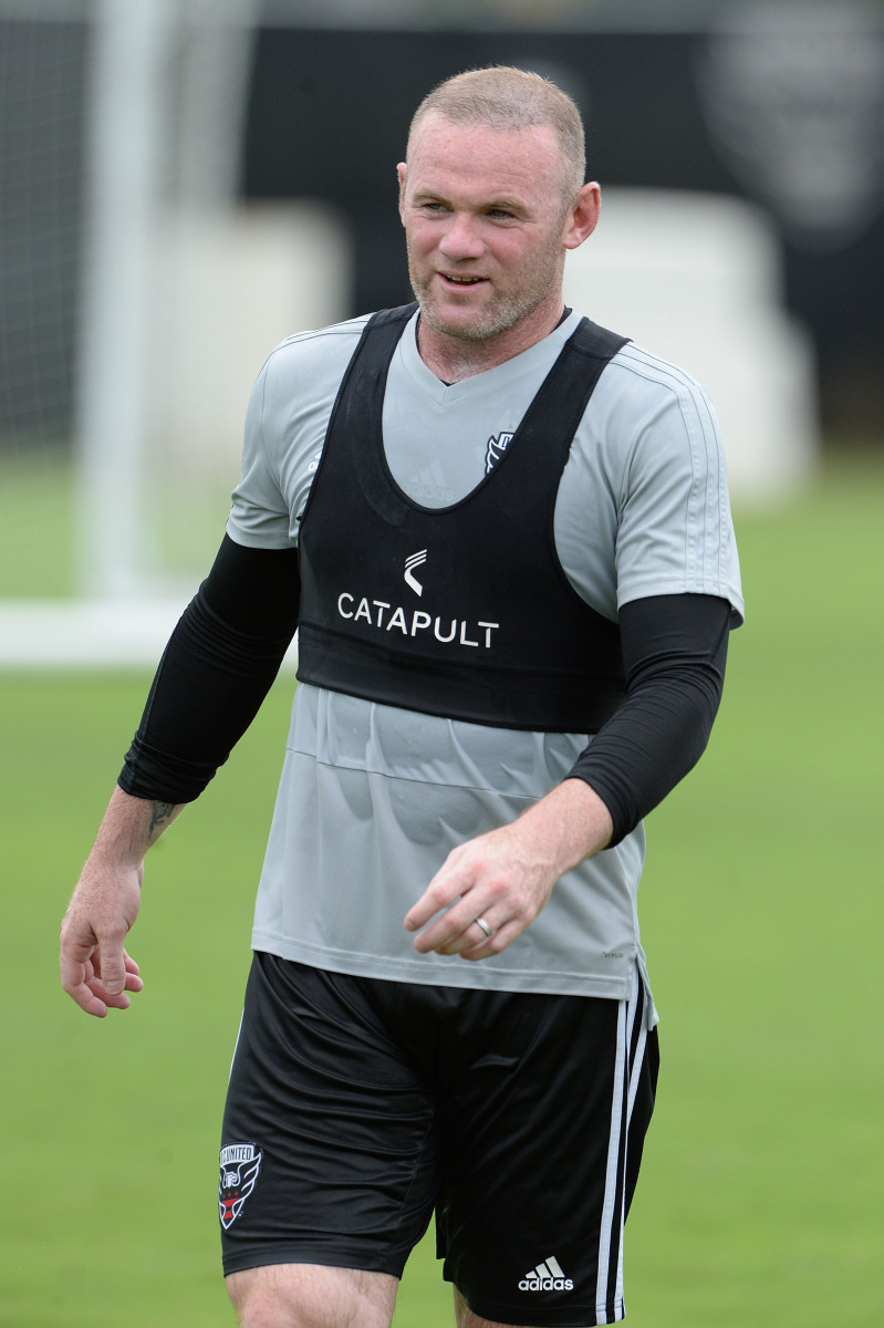 Wayne Rooney is put through his paces at DC United take to the field together for the first time since the striker signed from Everton.