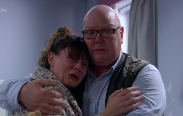 Chas and Paddy cry over Grace
