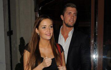 Dan Osborne and Jacqueline Jossa seen leaving the Soho Sanctum Hotel