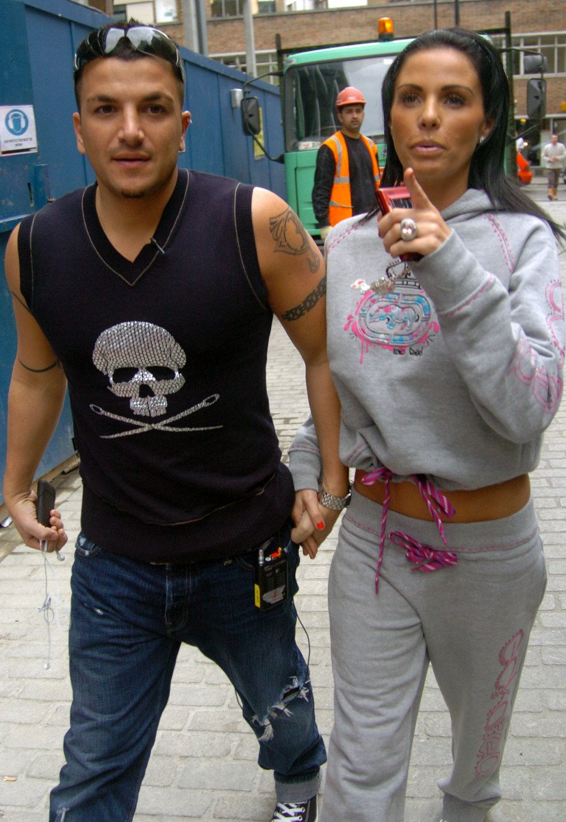 Katie Price with her sister Sophie and husband Peter Andre