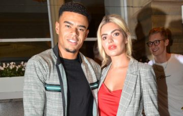 Love Islands Couple Wes Nelson And Megan Barton Arriving At Rosso Restaurant And Bar In Manchester
